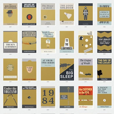 100 Essential Novels Scratch-Off Chart
